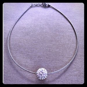 Designer Itaor Italy pave necklace